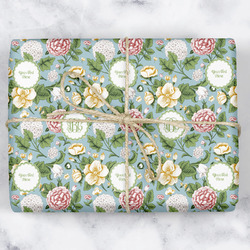 Vintage Floral Wrapping Paper (Personalized)