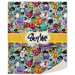"Graffiti Sherpa Throw Blanket - 60""x80"" (Personalized)"