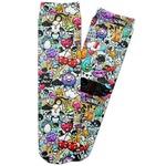 Graffiti Adult Crew Socks (Personalized)