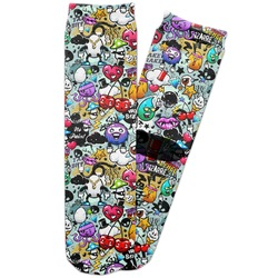 Graffiti Adult Crew Socks (Personalized)