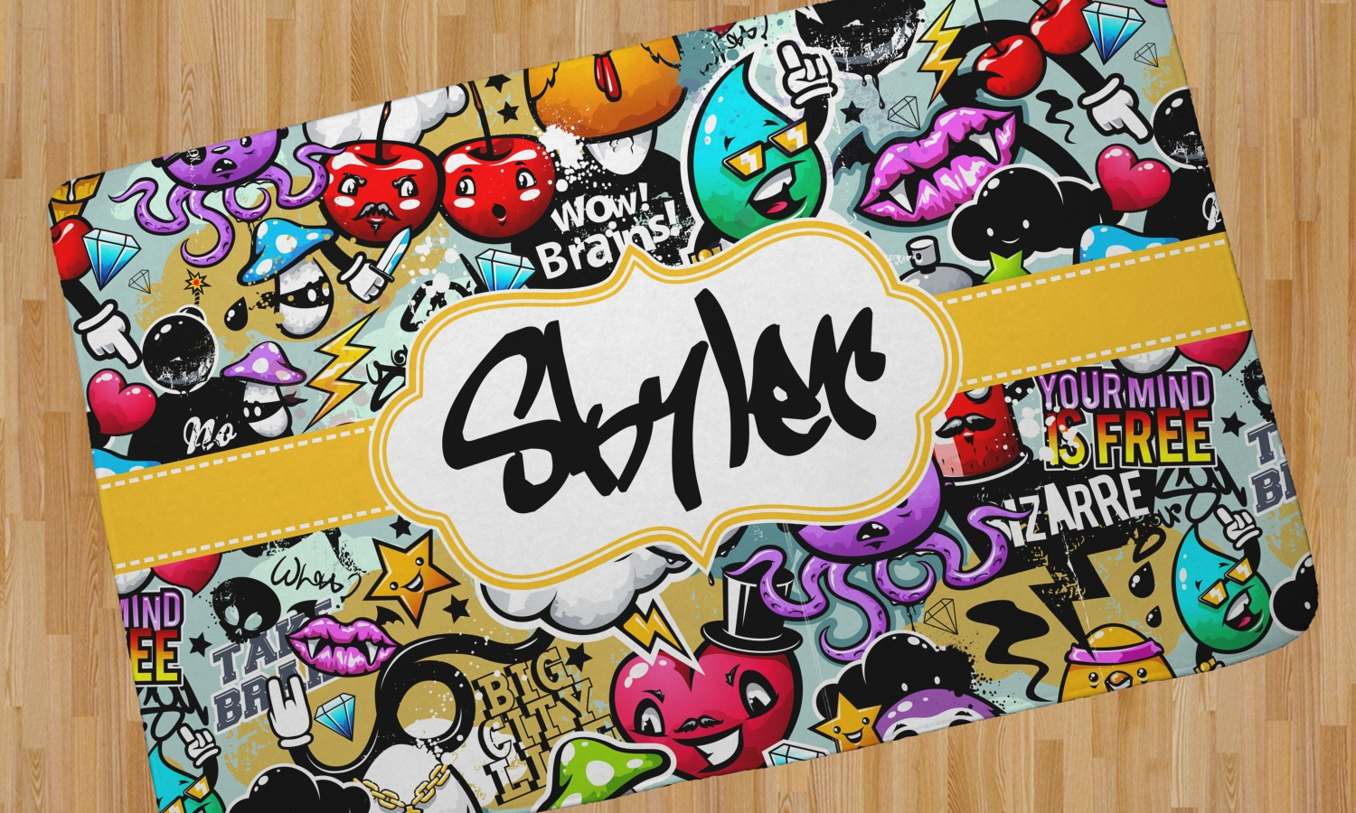 Graffiti Area Rug Home Decor