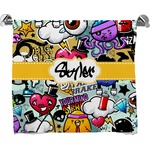 Graffiti Full Print Bath Towel (Personalized)