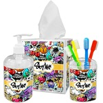 Graffiti Bathroom Accessories Set (Personalized)