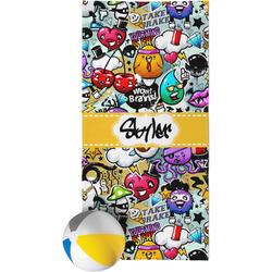 Graffiti Beach Towel (Personalized)