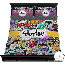 Graffiti Duvet Cover Set (Personalized)