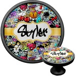 Graffiti Cabinet Knob (Black) (Personalized)