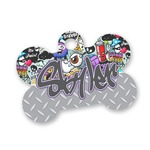 Graffiti Bone Shaped Dog Tag (Personalized)
