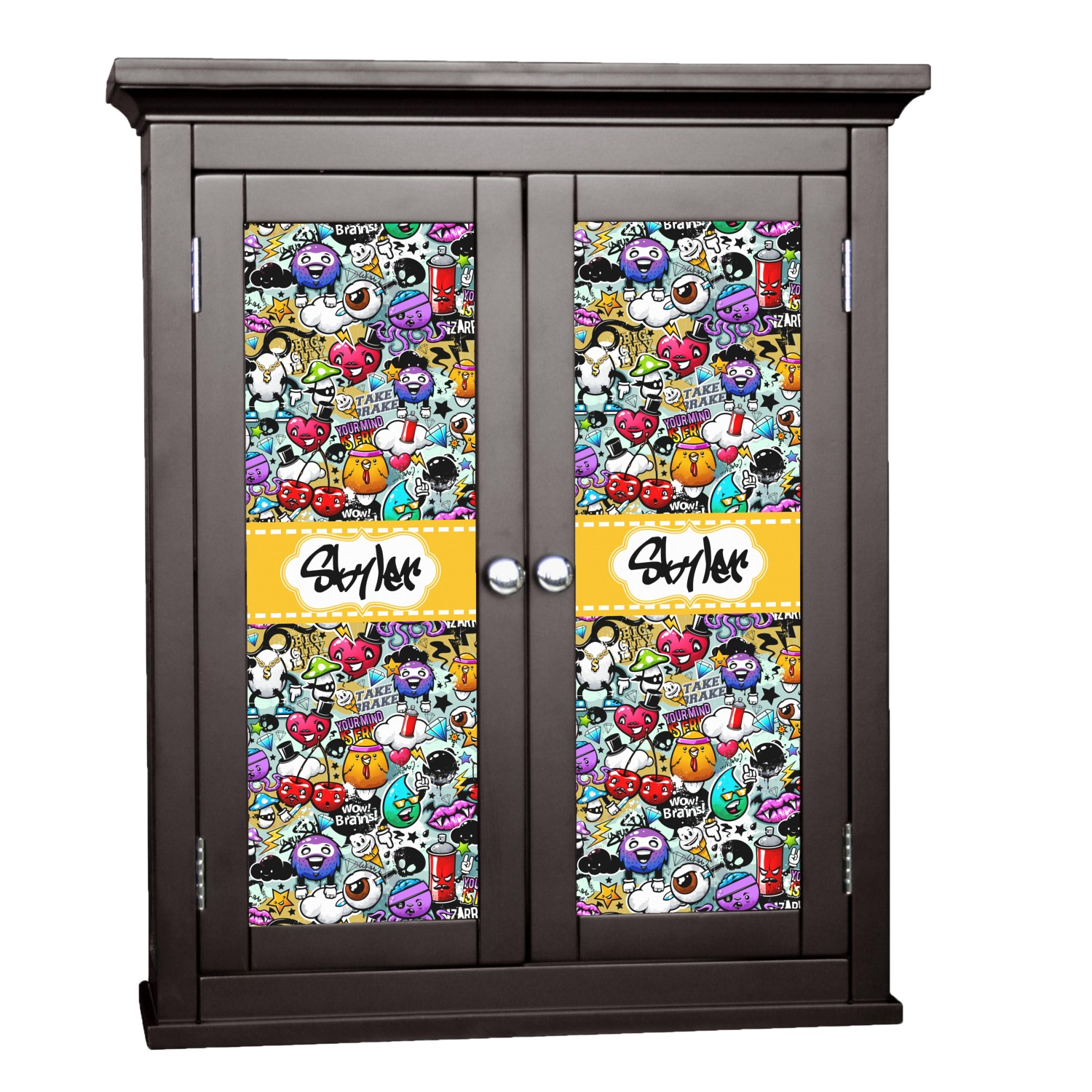decorative stickers for kitchen cabinets graffiti cabinet decal small personalized youcustomizeit 8590