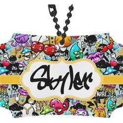 Graffiti Rear View Mirror Ornament (Personalized)
