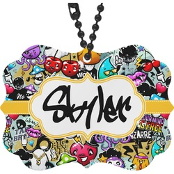 Graffiti Rear View Mirror Charm (Personalized)