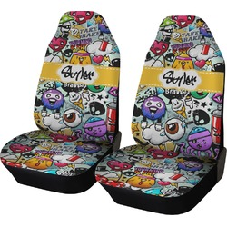 Graffiti Car Seat Covers (Set of Two) (Personalized)
