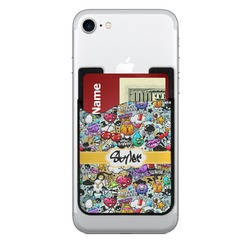 Graffiti 2-in-1 Cell Phone Credit Card Holder & Screen Cleaner (Personalized)