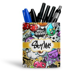 Graffiti Ceramic Pen Holder