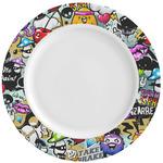 Graffiti Ceramic Dinner Plates (Set of 4) (Personalized)