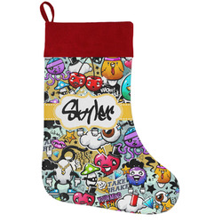 Graffiti Holiday Stocking w/ Name or Text