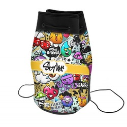 Graffiti Neoprene Drawstring Backpack (Personalized)