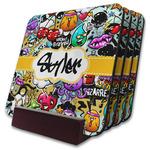 Graffiti Coaster Set w/ Stand (Personalized)