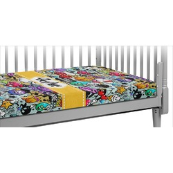 Graffiti Crib Fitted Sheet (Personalized)