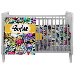 Graffiti Crib Comforter / Quilt (Personalized)