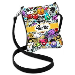 Graffiti Cross Body Bag - 2 Sizes (Personalized)