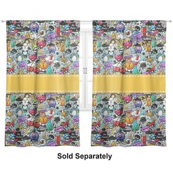 "Graffiti Curtains - 56""x80"" Panels - Lined (2 Panels Per Set) (Personalized)"