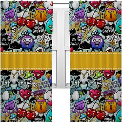Graffiti Curtains (2 Panels Per Set) (Personalized)
