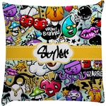 Graffiti Decorative Pillow Case (Personalized)
