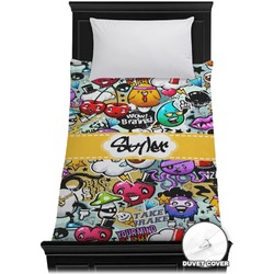 Graffiti Duvet Cover - Twin (Personalized)