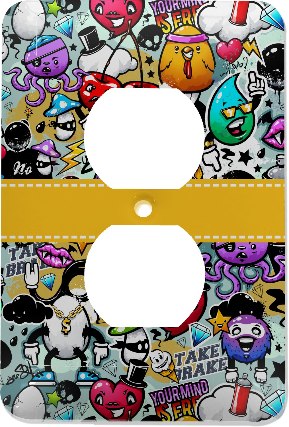 Graffiti Electric Outlet Plate (Personalized) - YouCustomizeIt