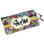 Graffiti Genuine Leather Eyeglass Case (Personalized)