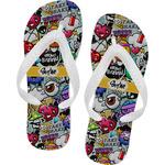 Graffiti Flip Flops (Personalized)