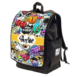 Graffiti Backpack w/ Front Flap  (Personalized)