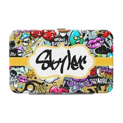 Graffiti Genuine Leather Small Framed Wallet (Personalized)