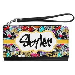 Graffiti Genuine Leather Smartphone Wrist Wallet (Personalized)