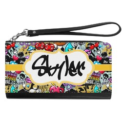 Graffiti Genuine Leather Smartphone Wrist Wallet (Personalized)
