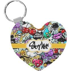 Graffiti Heart Keychain (Personalized)