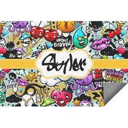 Graffiti Indoor / Outdoor Rug - 8'x10' (Personalized)