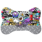 Graffiti Bone Shaped Dog Food Mat (Personalized)