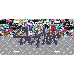 Graffiti Front License Plate (Personalized)