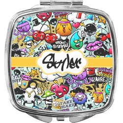 Graffiti Compact Makeup Mirror (Personalized)