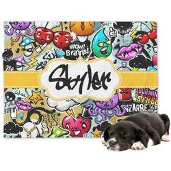 Graffiti Minky Dog Blanket (Personalized)
