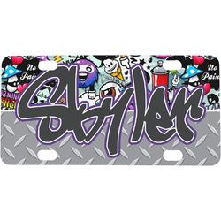 Graffiti Mini / Bicycle License Plate (4 Holes) (Personalized)