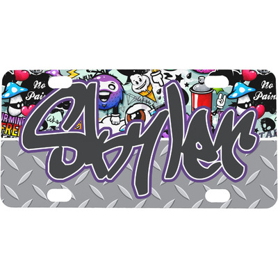 Graffiti Mini / Bicycle License Plate (Personalized)