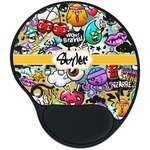 Graffiti Mouse Pad with Wrist Support