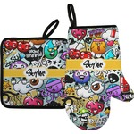 Graffiti Oven Mitt & Pot Holder (Personalized)