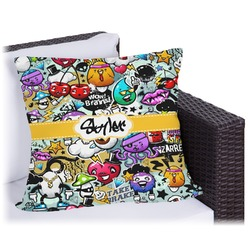 Graffiti Outdoor Pillow (Personalized)