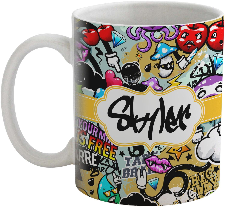 graffiti coffee mug personalized youcustomizeit