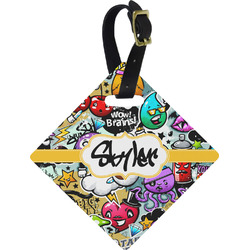 Graffiti Diamond Luggage Tag (Personalized)