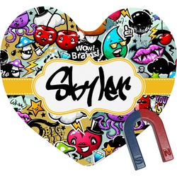 Graffiti Heart Fridge Magnet (Personalized)