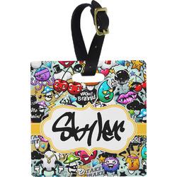 Graffiti Square Luggage Tag (Personalized)
